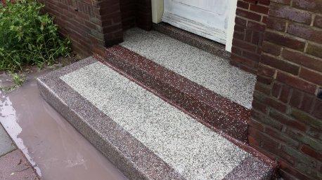 Terrazzo tegels buiten